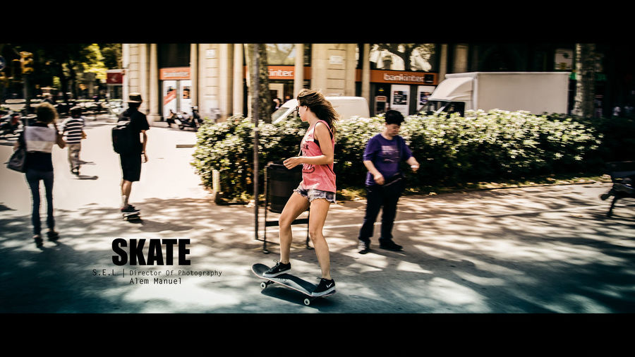 #alemmanuel #barcelona #cinematic #roadtrip #skater #skatergirl #spain #streetphotography #travel City Life Person Real People Young Women