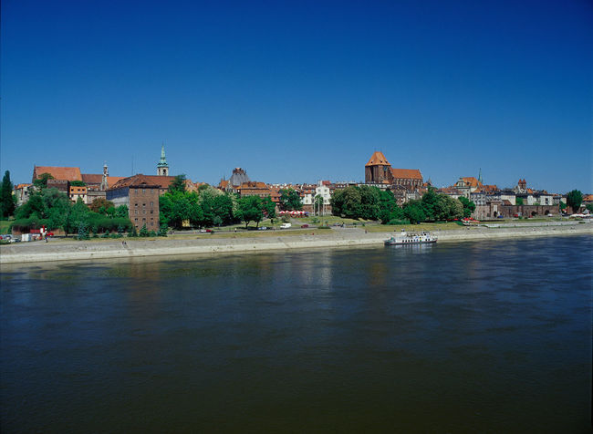 Toruń, Poland Architecture Blue City Clear Sky Day Horizontal Outdoors Poland River Sky Toruń Torun, Poland Toruń Toruń City Vistula Vistula River Water Wisla Wisła Wisła River
