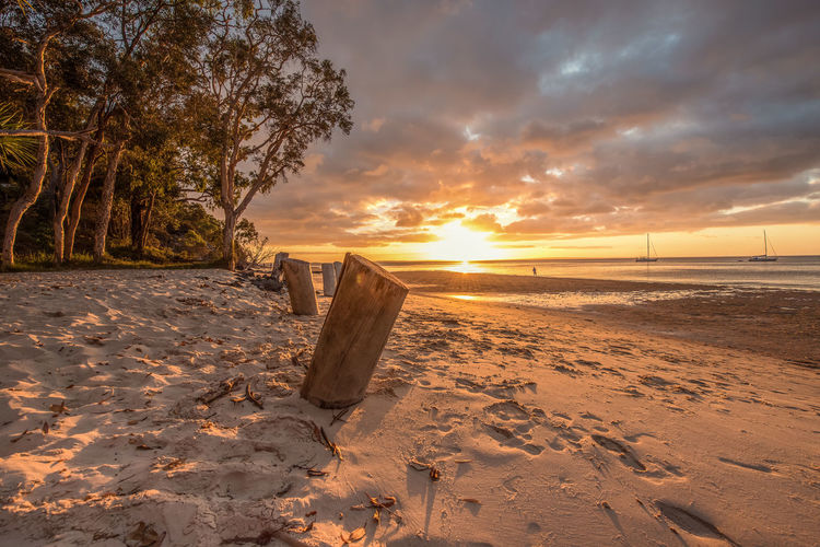 Sunset on Fraser Island Beautiful Sky Beach Beauty In Nature colour of life Colours In Nature Outdoors Sand Sandy Beach Seaside Sky Sunset