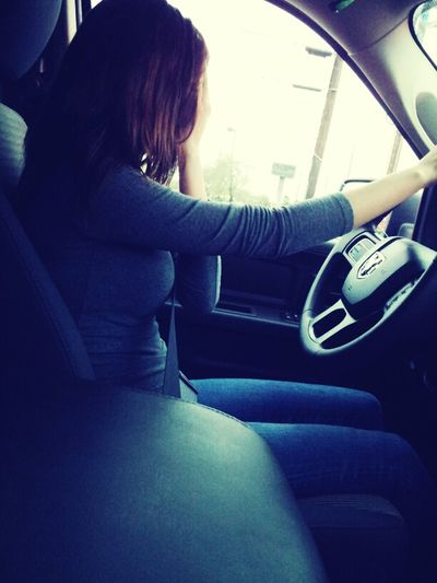 I look so small driving the truck lol (/.\)
