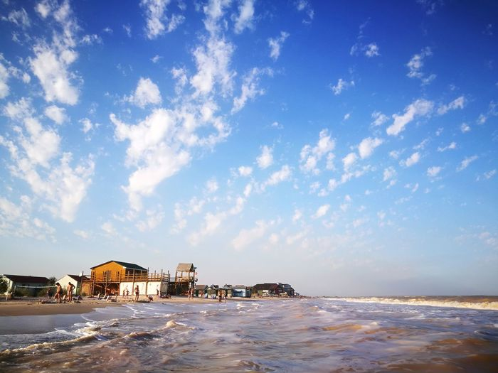 Azov Sea Vacations Travel Destinations Sky Blue Sea beach Perfect Sky Outdoors Ukraine 💙💛 Tourist Resort Water