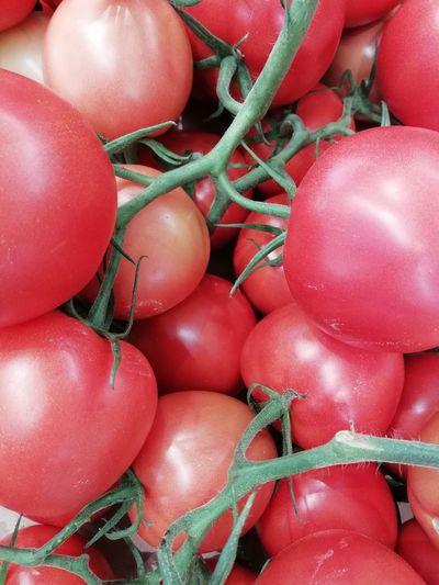 domatoes Market Manav Greengrocer Vegetables Vegetable Greengrocery Cooking Red Backgrounds Full Frame Close-up