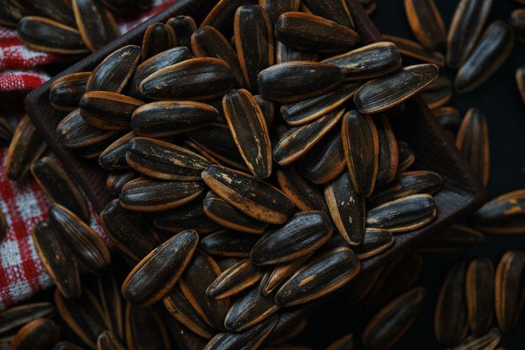 Full frame shot of sun flower seeds