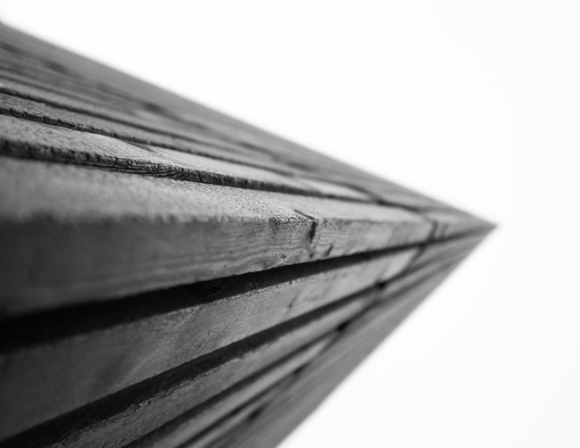 Close-up of wood against white background