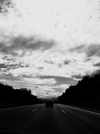Road Car Travel Sky Cloud - Sky Blackandwhite Long Way Way To Go Home Neighborhood Map The Street Photographer - 2017 EyeEm Awards