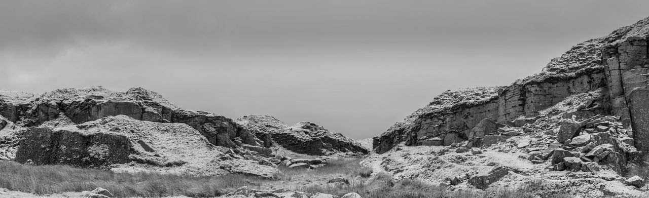 Mountain Outdoors Nature Snow Day Sky No People Cloud - Sky Winter Beauty In Nature Landscape_photography Dartmoor National Park Full Frame Blackandwhitephotography Mono Chrome
