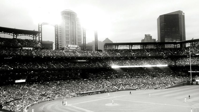 Saint Louis Baseball Game Check This Out Taking Photos Relaxing Enjoying Life Black & White Black And White Photography Priceless Moment  You Should Be Here Rare Moment Amazing Packed A Sight To Behold Taken With Phone