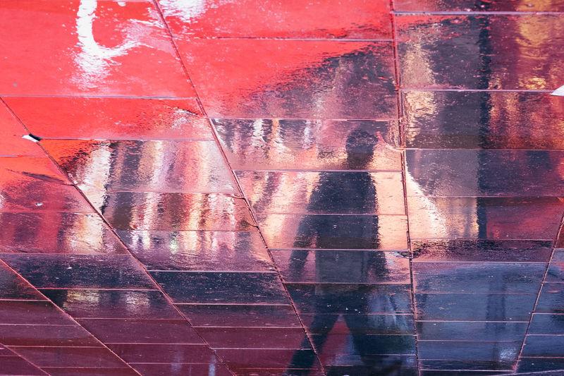 Full frame shot of wet glass wall