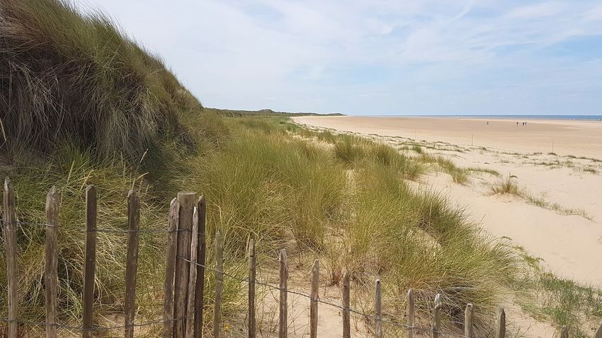 Sand Landscape Sand Dune Sky Scenics Cloud - Sky Beach Sea Outdoors Beauty In Nature Summer Tranquil Scene Marram Grass Growth Travel Destinations Nature Water Tranquility Outdoor Pursuit Holkham Holkham Beach Norfolk Sun No People Horizon Over Water