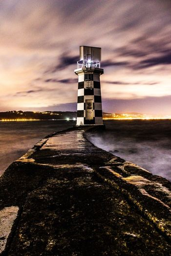 Point Halswell Lighthouse, Wellington, NZ Lighthouse Water Sea Waterfront Cloud Illuminated First Eyeem Photo