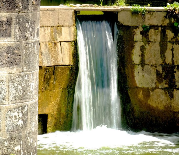 Water Motion Waterfall Built Structure Long Exposure Day No People Architecture Outdoors Nature Beauty In Nature Historical Building Ludwig-Canal Main-Donau-Kanal Franconia Sunny Day