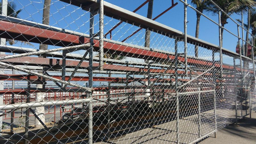 Bridge - Man Made Structure Metal Railing Sky Architecture Close-up Built Structure