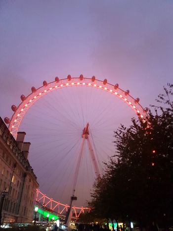 London Ferris Wheel Travel Destinations Night Nightlife Illuminated
