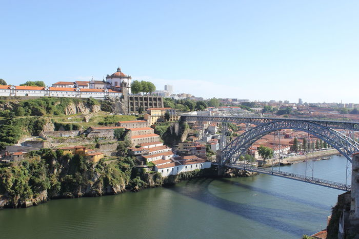 2014 Architecture Bridge - Man Made Structure Built Structure City Cityscape Day Douroriver No People Outdoors Ponte Luis I Porto Portugal River Sky Summer Sunny Day Travel Travel Destinations Vacations Vila Nova De Gaia Water