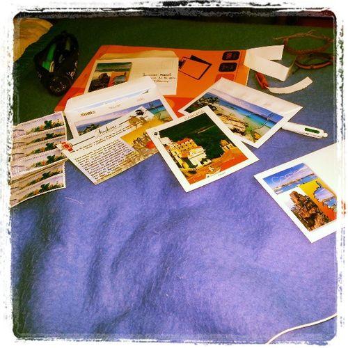 Séance carte postale.. Carte Vacances Corse écrire