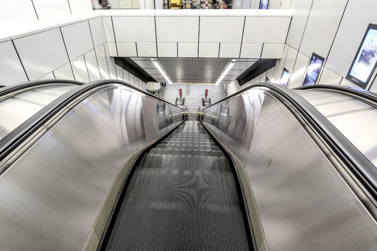 Escalator Moving Downwards