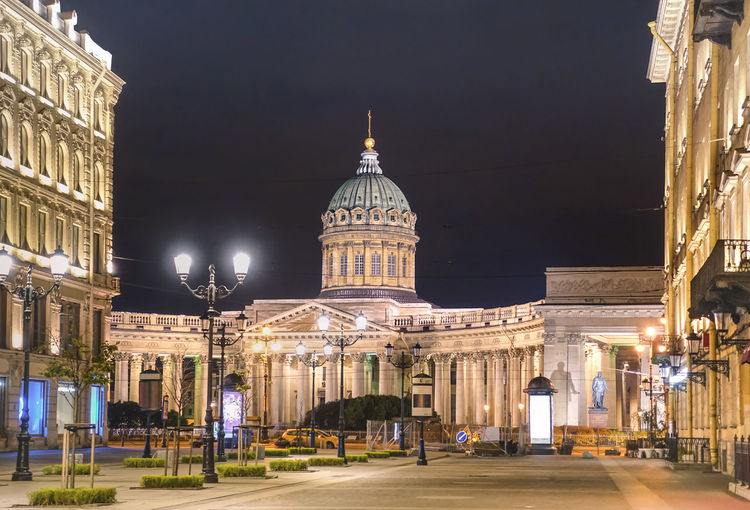 Zoom of Kazan Cathedral on Nevsky Prospect from the side of Malaya Konushennaya street in world famous russian city of Saint Petersburg - Warm night color tones with main focus on building dome cupola Architecture Cathedral Church Kazansky Cathedral Landmarks Nightphotography Postcard Russia Russia россия Saint Petersburg Travel Building Exterior Buildings Cupola Front View Illuminated Kazan Cathedral Kazansky Sobor Landmark Nevskiy Prospekt Nevskyprospekt Night Nightscape Travel Destinations Zoom
