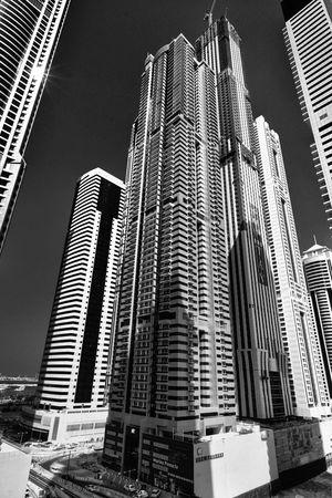 Marina Pinnacle Dubai Blackandwhite Architecture Cityscapes