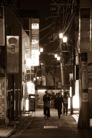 City Life Night Street Walking