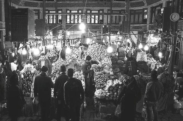Black And White Marketplace Tehran, Iran