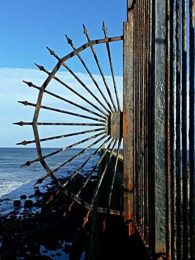 Sky No People Outdoors Day Low Angle View Water Tynemouth Pier Wrought Iron Design Wrought Iron Sea
