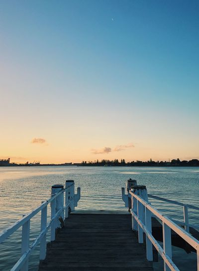 Water Pier Tranquil Scene Sunset Tranquility Clear Sky Copy Space Rippled Scenics Nature Sea Outdoors Sky Jetty No People Blue Beauty In Nature Sunlight Horizon Wood Paneling Beauty In Nature Australia Newsouthwales Beautiful Sunset_collection