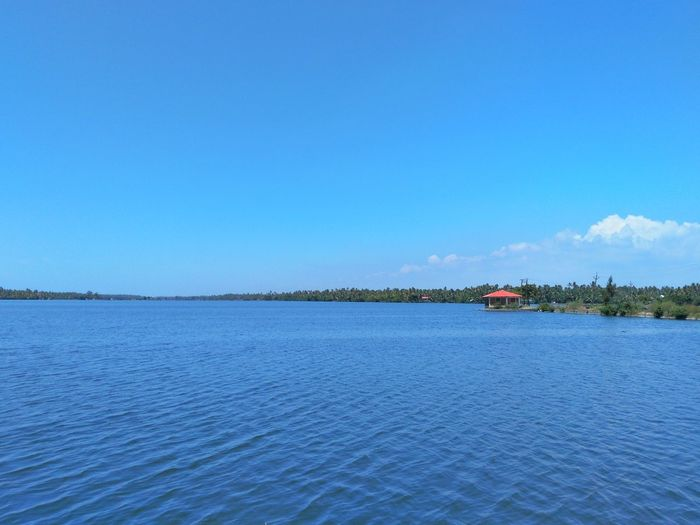 Cherai Backwaters. Kerala, India. Blue Water Scenics Tranquil Scene Tranquility Waterfront Copy Space Beauty In Nature Rippled Calm Sea Vacations Nature Sky Travel Destinations Day Tourism Seascape Non-urban Scene Majestic