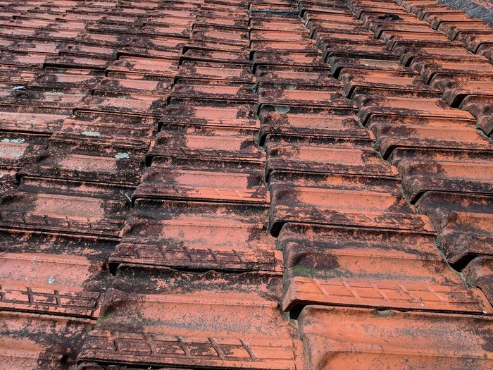 Velho telhado. Roof Tile Rooftop Roof Old Roof Vintage EyeEm Selects Backgrounds Full Frame Pattern Textured  Residential Structure Tiled Roof  Repetition