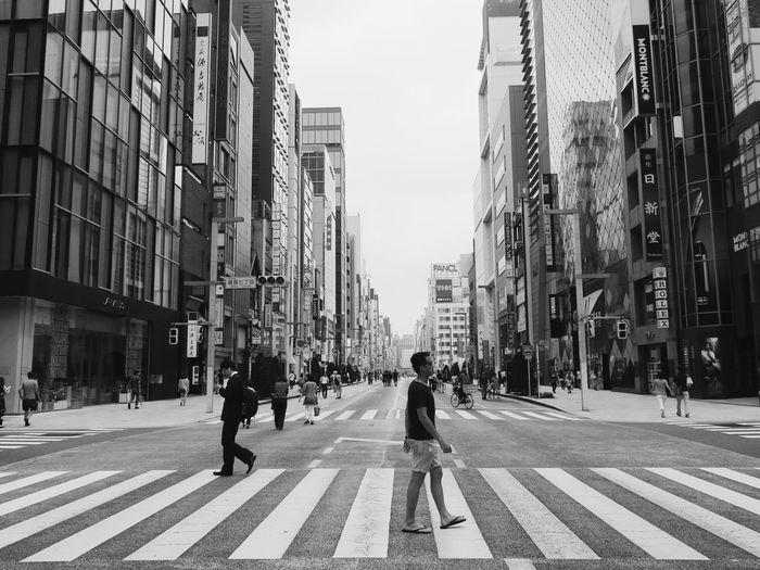 Crossing the Ginza street like a boss.