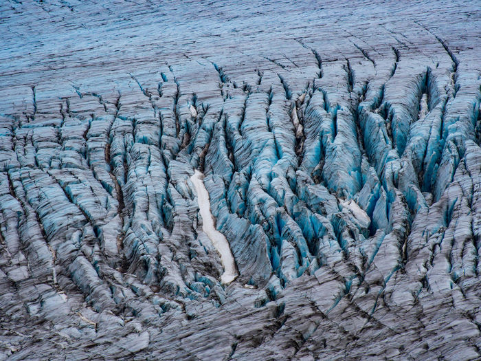 Full frame shot of cracked ice