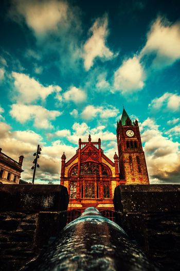 Travel Destinations Building Exterior Sky Cloud - Sky City No People Travel Ireland Derrylondonderry Streetphotography First Eyeem Photo EyeEm Best Shots Townhall Northireland Derry