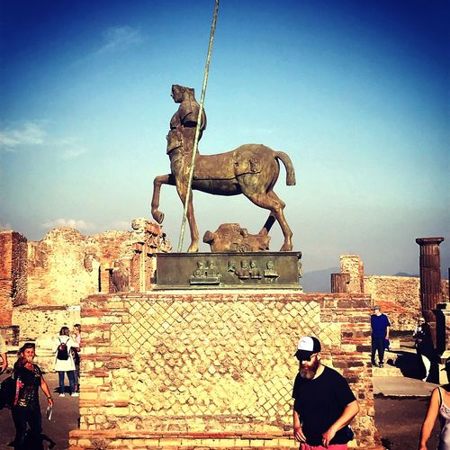 Pompeii  Statue Italy Monument Architecture City Citytrip History Outdoors Day Clear Sky Greece Neopolis First Eyeem Photo