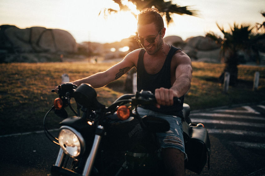 Man Bike Day Motorcycle One Person Outdoors Real People Transportation Young Adult