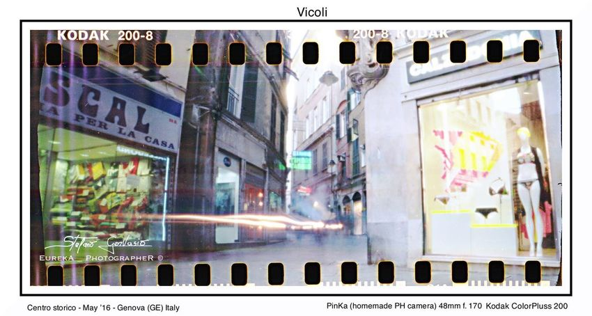 Pictures realized with homemade pinhole camera Pinhole Pinhole Photography Pinhole Camera Homamade Handmade Film Film Photography 35mm Film 35mm Camera 35mm Kodak Colorplus200 Stenopeic Camera Genova ♥ Italy Streetphotography Long Exposure