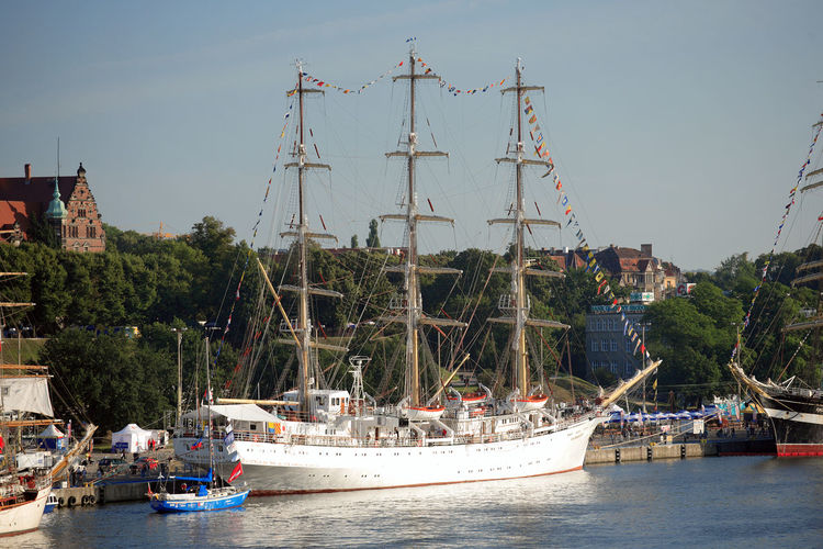 Harbor Odra Poland Segeln Szczecin Tall Ship Transportation Boat Day Harbor Mast Moored Nautical Vessel Polen River Sailboat Sailing Sailing Boat Ship Stettin Tall Ship Transportation Water Yacht