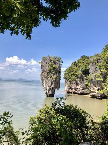 James Bond Island Water Tree Sea Sky Landscape Horizon Over Water Plant Rock - Object Rock Formation Rocky Coastline Stack Rock Cliff