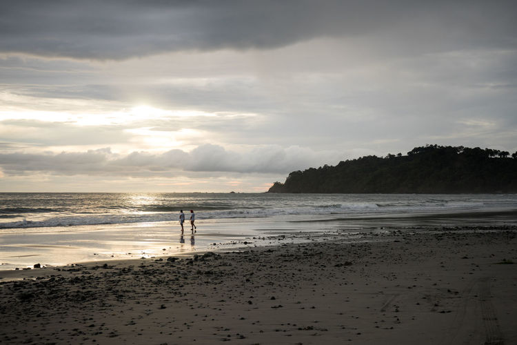 Costa Rica Beach Beauty In Nature Cloud - Sky Horizon Over Water Nature Outdoors Sand Scenics Sea Shore Tranquility Two People Vacations Water