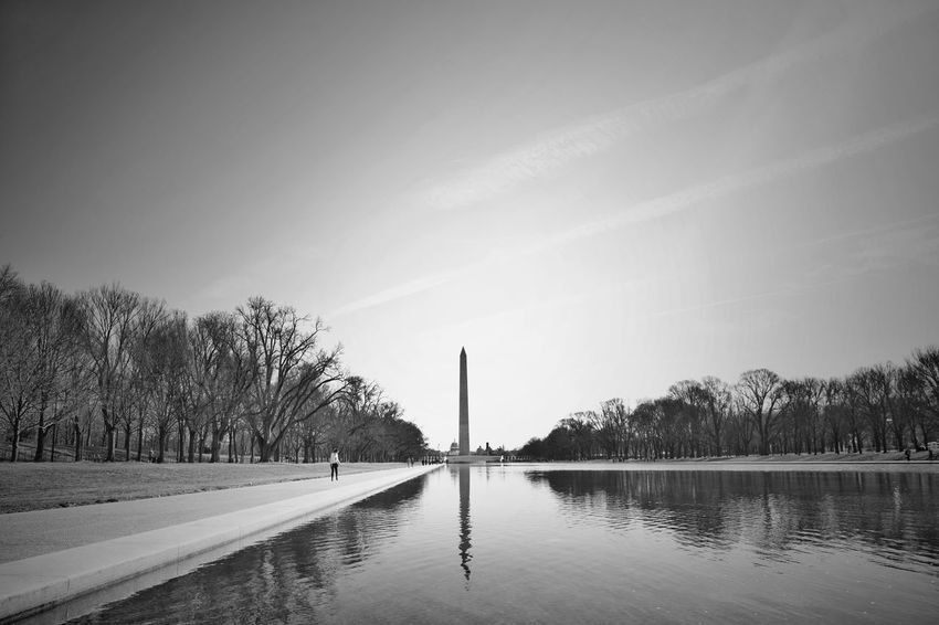 EyeEmNewHere Reflection Water Tranquility Outdoors Day Black&white Photography Blackandwhite Photography Black&white Black & White Black And White Blackandwhite Washington Monument, Washington DC WashingtonDC Monochrome Photography Munument Munuminc National Mall, Washington, DC National Mall Wide Angle Ultra Wide Angle
