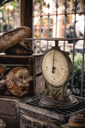 EyeEmNewHere Retro Rustic Scale  Weighing Scale Close-up Day Focus On Foreground Gauge No People Old Outdoors Rural Scene Time Vintage Weightloss