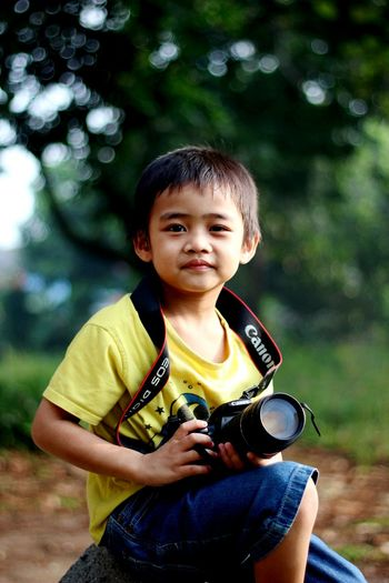 EyeEm Selects Child One Person Childhood People Children Only Forest Outdoors Nature Day Smiling One Boy Only Tree Adult Dslrphotography MySON♥ Ezzra Take Photos Canonphotography