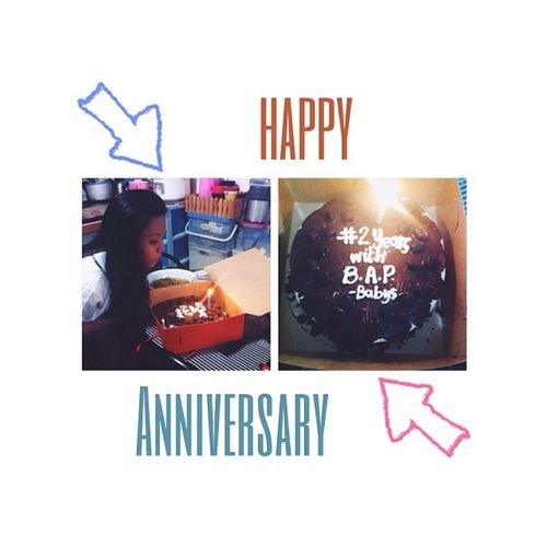 2YearsWithBAP So yeah, bought this cake from red ribbons for my boys' second anniv!