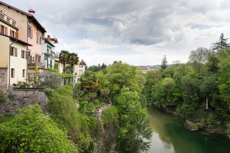 View from the ponte del diavolo Historical Building Tree Architecture Bridge Building Exterior Built Structure Cloud - Sky Day Historic History House Nature No People Outdoors River Scenics Tree Water