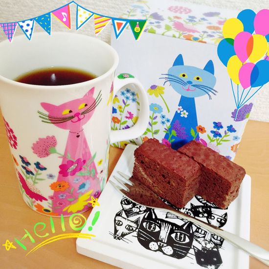 おやつ Coffee Coffee Time Cat Cats Chocolatecake チョコブラウニー マグカップ Colorful