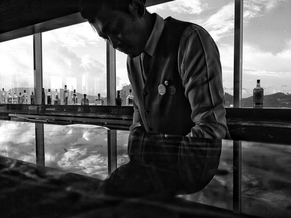 EyeEm Best Shots EyeEm Best Edits Huaweimate9 Huawei Leica Eyeem Market Huaweiphotography EyeEmNewHere Eyem Gallery Shadow Reflection One Mature Man Only One Man Only. One Man Black & White Blackandwhite Photography Black&white