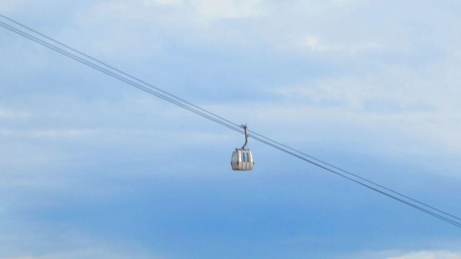 Gondala Lift Andalucía February 2018 February2018 Gondola Telephone Line Technology Ski Lift Cable Hanging Sky Cloud - Sky Overhead Cable Car