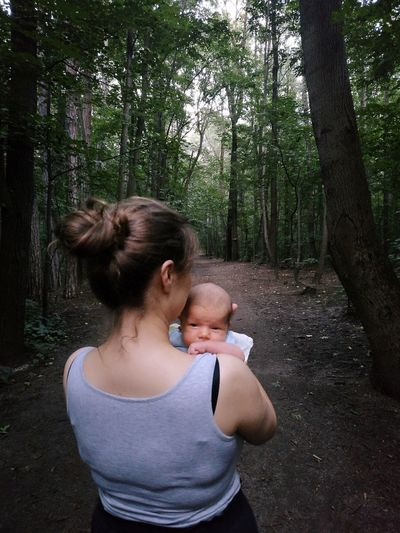 exploring the world Baby Mother Nature Trail Tree Togetherness Forest Women Friendship Young Women