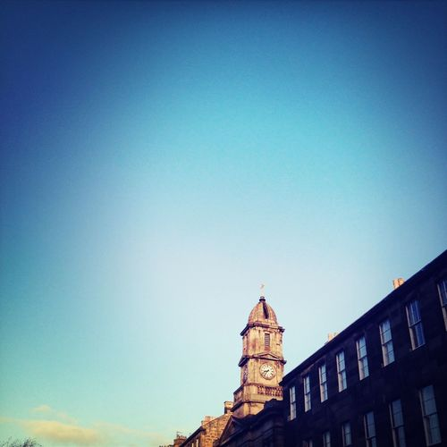 Walking to Work beautiful CClear Blue Sky