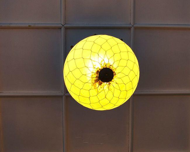 Close-up of yellow lamp