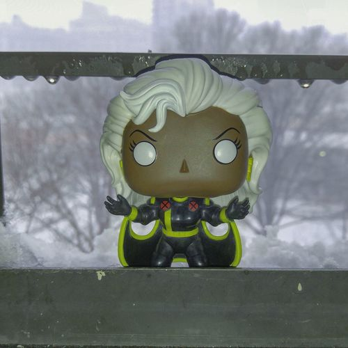 Stormwatch Storm Blizzard 2016 Snowing Snow Covered Taking Photos From My Window Smartphonephotography Brooklyn Funkopop Xmen Funkopopvinyl Funko