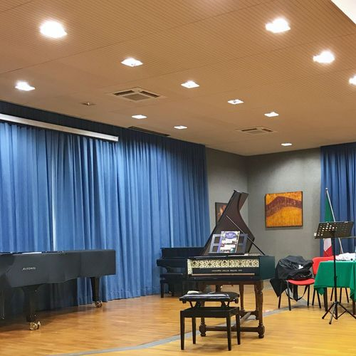 Indoors  Music Curtain Piano Arts Culture And Entertainment No People Illuminated Day Clavicembalo